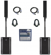 rcf evox 8 / soundcraft signature 12 complete new pa system